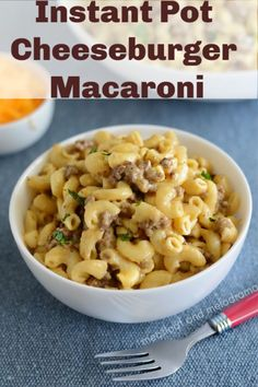Instant Pot Cheeseburger Macaroni, or homemade Hamburger Helper with ground beef and pasta in a creamy cheese sauce is a quick and easy dinner that's kid approved and perfect for busy days! #instantpot  #instantpotrecipes #groundbeef #pasta #easydinner