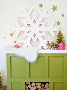 Jumbo Snowflake #diychristmas #holidaydiy