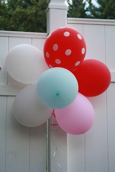 Simple, balloons make the perfect circus decor #SocialCircus