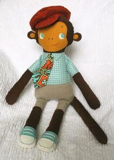 diy stuffed monkey