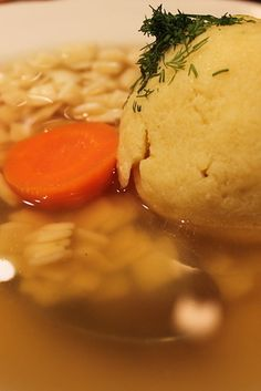 Matzoh Ball Soup at 2nd Ave Deli