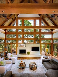 studio, kiawah island, interior, coffee tables, living rooms, window, tree houses, beam, design