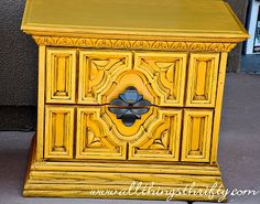 Love this blog...she has great tutorials...this one on painting and glazing these cabinets she found at the DI