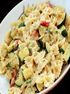Zucchini Pasta recipe for Meatless Monday -- Was very tasty and simple. This is a promising recipe--the recipe is poorly written but with some work it could be perfected. Used probably 4 times as much cheese as it called for.