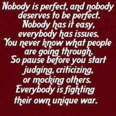 Fight your own fight.