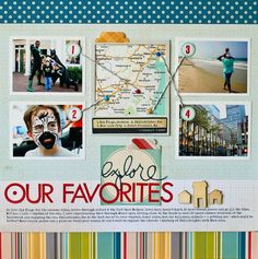 great LO about travelling or favorite places