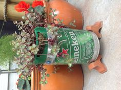 Finally figured out what to do with my empty Heineken keg. Plant it!!