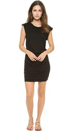 Cute black dress for summer.