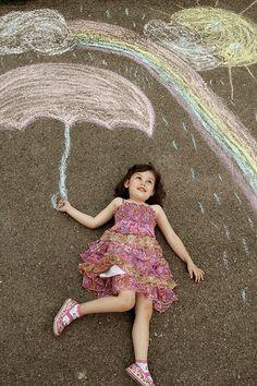 Cute idea for kids photography, chalk.