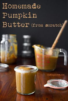 Pumpkin Butter Made from Fresh Pumpkin
