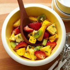 Fresh Fruit with Citrus Mint Dressing