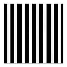 Black and white striped shower curtain - a must have!
