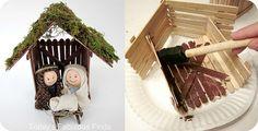Darling kids nativity... craft sticks/ clay pot figures