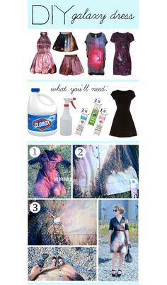 """DIY Galaxy Dress"" by polyvore-editorial ❤ liked on Polyvore"