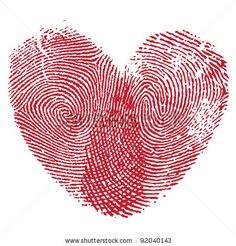 tattoo ideas, fingerprint, heart, kids prints, thumb prints