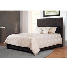 Natural Rattan Queen-size Low Profile Bed - Overstock.com