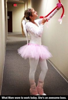 We think she is awesome too! #cupid #costume