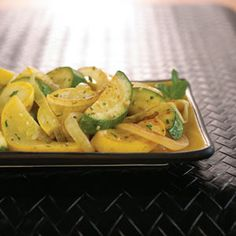 Sautéed Yellow Squash, Zucchini, and Onions: A deliciously simple method for preparing summer squash. | Recipe from Organic Gardening