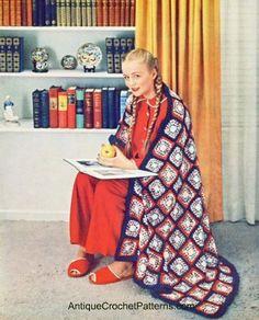 beauti crochet, craft, crochet afghans, americana afghan, afghan patterns, crochet item, crochet blanket, vintage patterns, vintage crochet