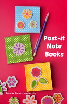Post-it Note Books - a great way for kids to create their own books and then practice writing. This also makes a good gift for that is inexpensive to make.