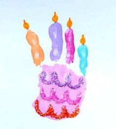 birthday cake hand print