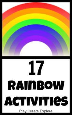 Play Create Explore: 17 Rainbow Activities