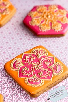 Mehndi by Dessert Menu, Please, via Flickr. mehndi designs, henna tattoos, dessert menu, decorated cookies, cookie designs, bollywood, mehndi cooki, biscuits, healthy desserts