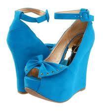 blue wedg, wedge shoes, luichini, girl shoe, bow wedg