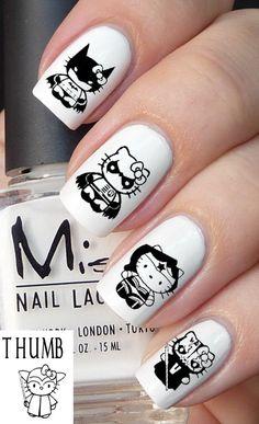 50pc Hello Kitty Super Hero nail decal set by DesignerNails, $4.00