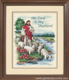 Dimensions Crafts - The Lord is My Shepherd Stamped Cross Stitch Kit # 3222