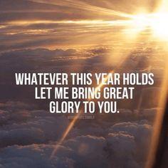 Glory to God.