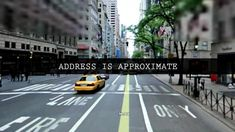 Address Is Approximate | BIG-APPLE.TV