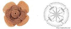 . crochet flower, pour minspirr, knit flower, flore tejida, 662277 píxele, motivi traforati, 96082395v7jpg 662277