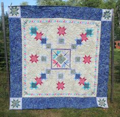 Fly Away Home Dragonfly Quilt.  I really like the dragonfly block in the center of this quilt.