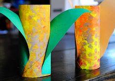 corn toilet paper crafts for kids | 18 Fantastic Fall Crafts for Kids!