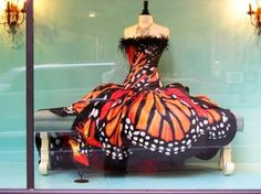 Did Julie Andrews ever sing about butterfly dresses in the Sound of Music?