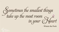 pooh quot, quotes, quote wall, wall decals, thing winni, nurseri, babi, smallest thing, winnie the pooh