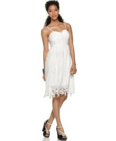 MM Couture Dress, Spaghetti Strap Eyelet Corset - Womens Dresses - Macy's $69