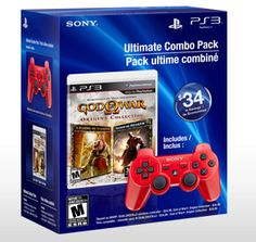 """For those scorned on V-day... a """"God of War"""" PS3 Ultimate Combo Pack, complete with red controller."""