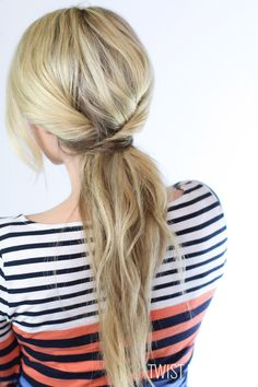 Triple twisted ponytail tutorial