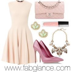 """#OOTD Easter: Pale Perfection"" by fabglance on Polyvore"