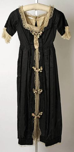 You could wear this straight into a Regency  dinner (especially if you were in mourning) Dinner Dress Lucile, 1918 The Metropolitan Museum of Art
