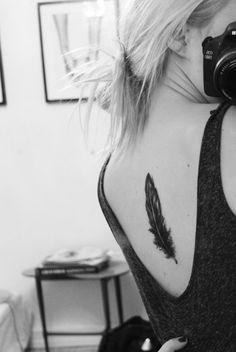 feather tattoo | Tumblr