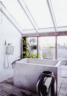 I would love something like this in a sunroom, separate from the bathroom, just for pure relaxation and not for getting clean.