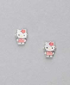 Pink Kitty White Earrings (Originally $40)    $19.99 http://www.zulily.com/invite/dnet219