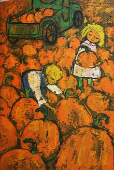 Orange pumpkins:: What is a Color? by Alice and Martin Provensen, c. 1967.