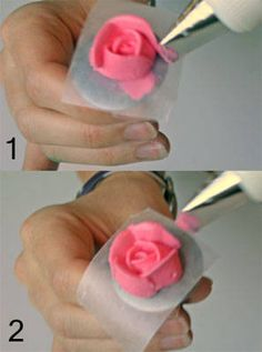 How to make flowers out of frosting.