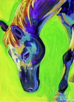 Horse on Green - acrylic by ©Alicia VanNoy Call (via FineArtamerica)