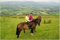 Mother and daughter ride in Ireland