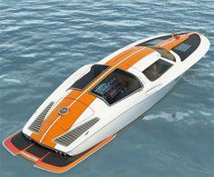 '63 Corvette inspired Boat